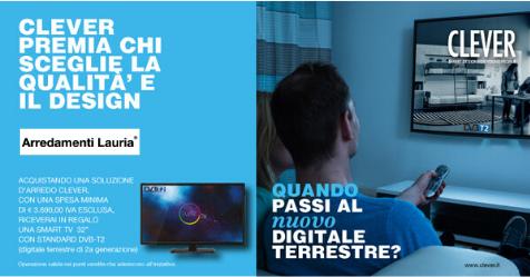 Smart TV omaggio con Clever e Arredamenti Lauria